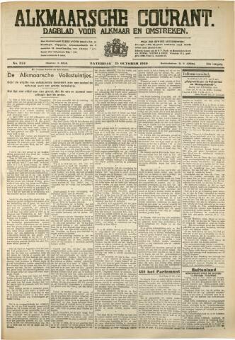 Alkmaarsche Courant 1930-10-25