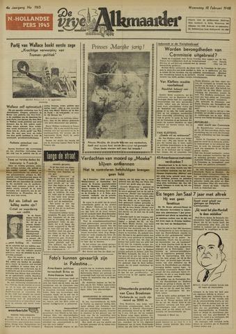 De Vrije Alkmaarder 1948-02-18