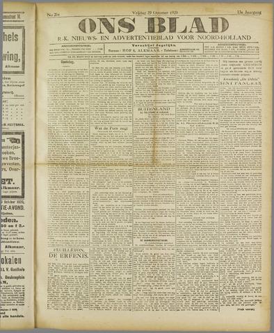 Ons Blad : katholiek nieuwsblad voor N-H 1920-10-29