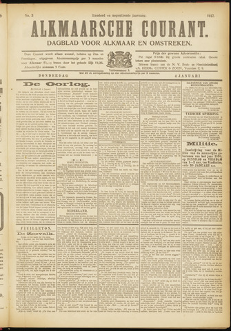 Alkmaarsche Courant 1917-01-04