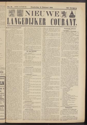 Nieuwe Langedijker Courant 1925-02-19