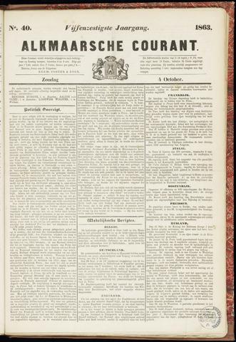 Alkmaarsche Courant 1863-10-04