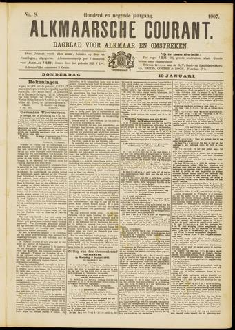 Alkmaarsche Courant 1907-01-10