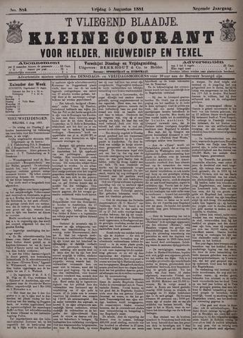 Vliegend blaadje : nieuws- en advertentiebode voor Den Helder 1881-08-05