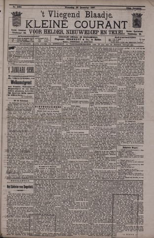 Vliegend blaadje : nieuws- en advertentiebode voor Den Helder 1897-12-29
