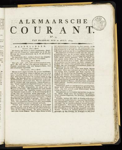 Alkmaarsche Courant 1815-04-10