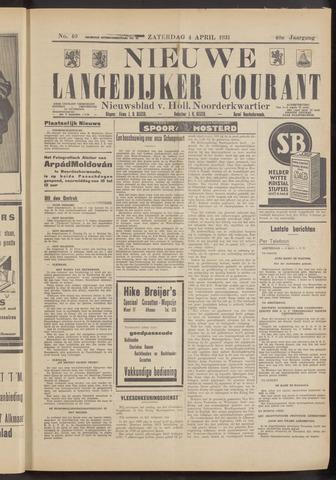 Nieuwe Langedijker Courant 1931-04-04