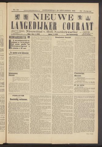 Nieuwe Langedijker Courant 1932-12-29