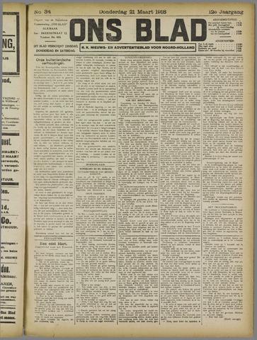 Ons Blad : katholiek nieuwsblad voor N-H 1918-03-21