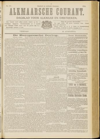 Alkmaarsche Courant 1914-08-14