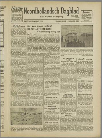 Nieuw Noordhollandsch Dagblad : voor Alkmaar en omgeving 1946-01-05