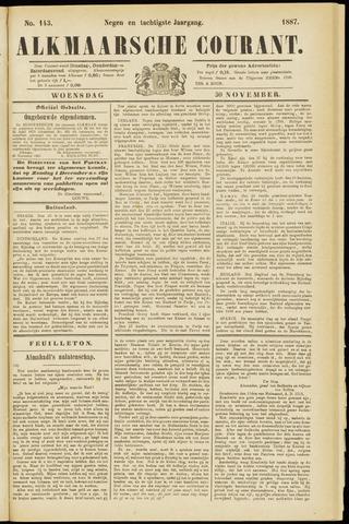 Alkmaarsche Courant 1887-11-30