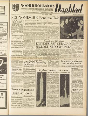 Noordhollands Dagblad : dagblad voor Alkmaar en omgeving 1958-02-03