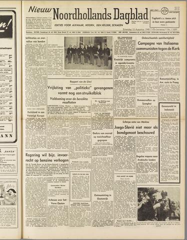 Nieuw Noordhollandsch Dagblad : voor Alkmaar en omgeving 1949-08-13