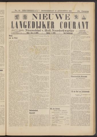 Nieuwe Langedijker Courant 1931-08-13