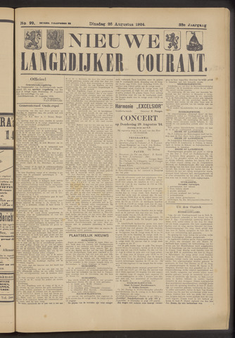 Nieuwe Langedijker Courant 1924-08-26