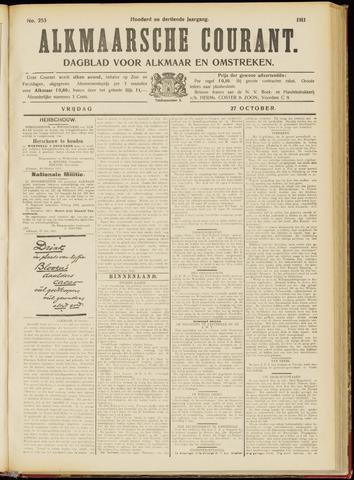 Alkmaarsche Courant 1911-10-27