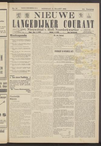 Nieuwe Langedijker Courant 1932-03-15