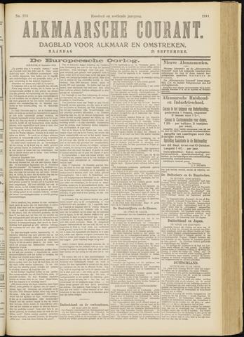 Alkmaarsche Courant 1914-09-21