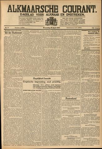 Alkmaarsche Courant 1934-04-18
