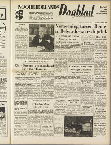 Noordhollands Dagblad : dagblad voor Alkmaar en omgeving 1953-11-29