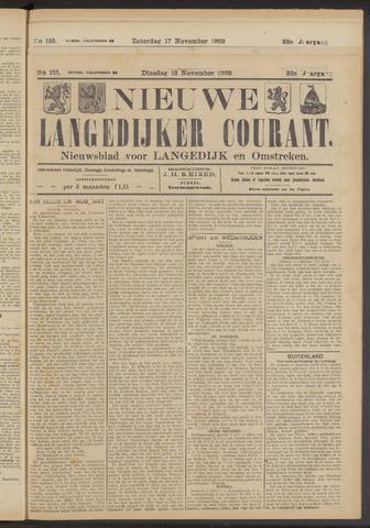 Nieuwe Langedijker Courant 1923-11-13