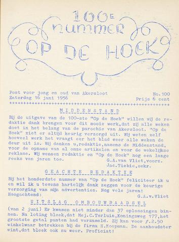 Op De Hoek, weekblad voor Akersloot 1956-06-16