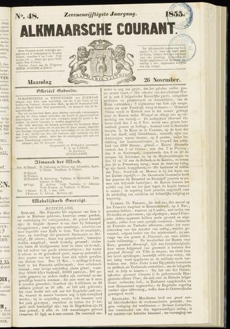 Alkmaarsche Courant 1855-11-26