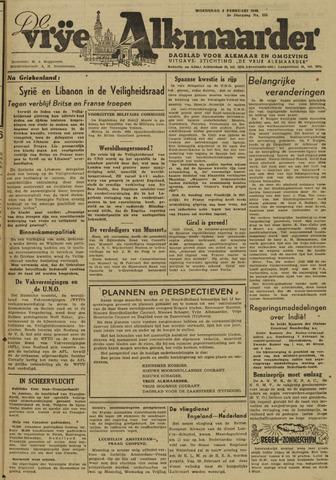 De Vrije Alkmaarder 1946-02-06