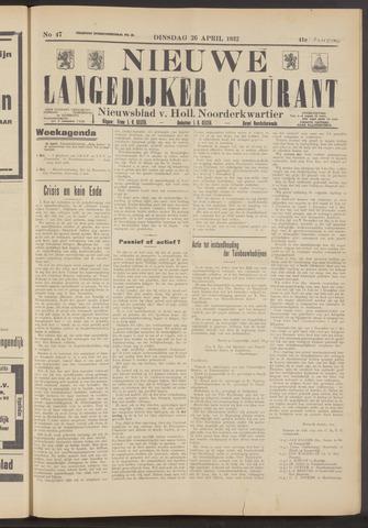 Nieuwe Langedijker Courant 1932-04-26