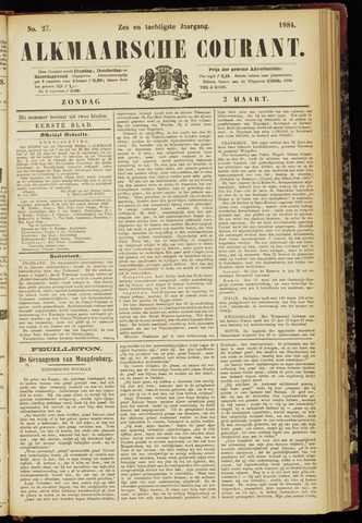 Alkmaarsche Courant 1884-03-02