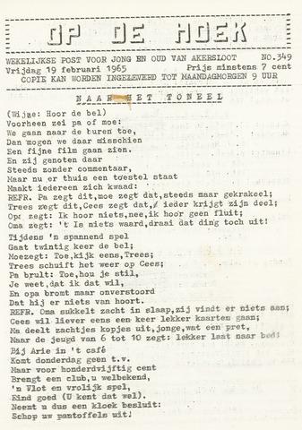 Op De Hoek, weekblad voor Akersloot 1965-02-19