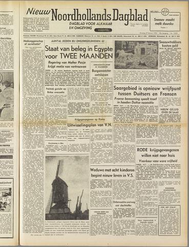 Nieuw Noordhollandsch Dagblad : voor Alkmaar en omgeving 1952-01-29