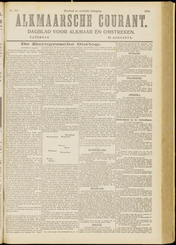 Alkmaarsche Courant 1914-08-22