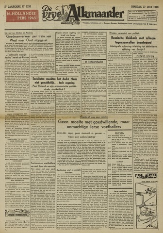 De Vrije Alkmaarder 1948-07-27