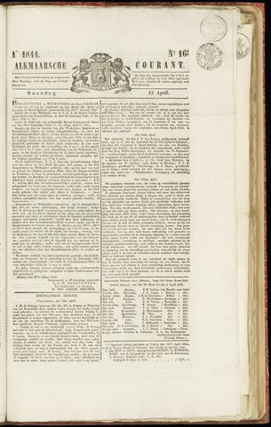 Alkmaarsche Courant 1844-04-15