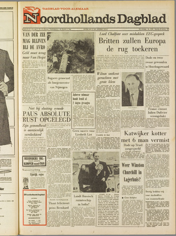 Noordhollands Dagblad : dagblad voor Alkmaar en omgeving 1967-10-30