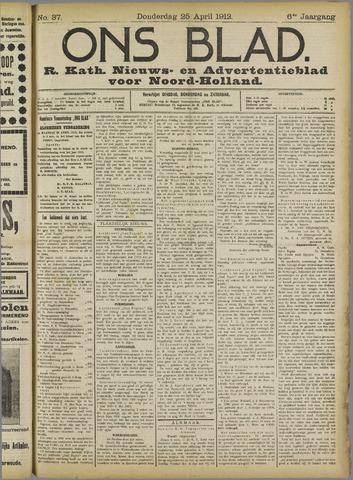 Ons Blad : katholiek nieuwsblad voor N-H 1912-04-25