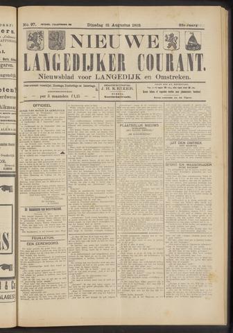 Nieuwe Langedijker Courant 1923-08-21
