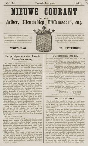 Nieuwe Courant van Den Helder 1862-09-24