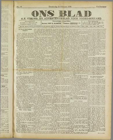 Ons Blad : katholiek nieuwsblad voor N-H 1920-02-26