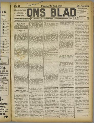 Ons Blad : katholiek nieuwsblad voor N-H 1918-06-25