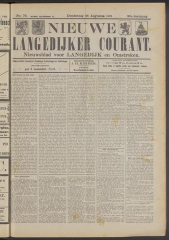 Nieuwe Langedijker Courant 1921-08-25