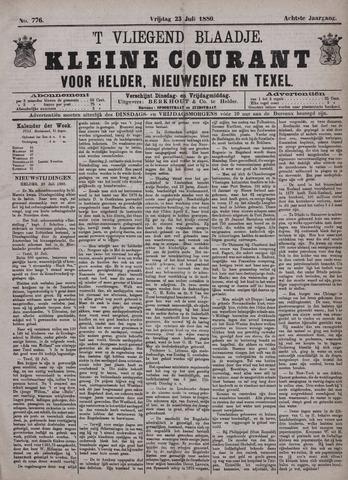 Vliegend blaadje : nieuws- en advertentiebode voor Den Helder 1880-07-23
