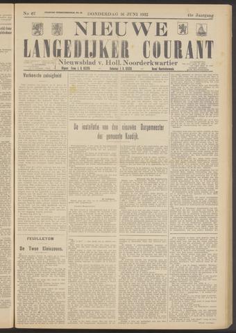 Nieuwe Langedijker Courant 1932-06-16