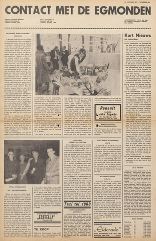 Contact met de Egmonden 1971-01-13