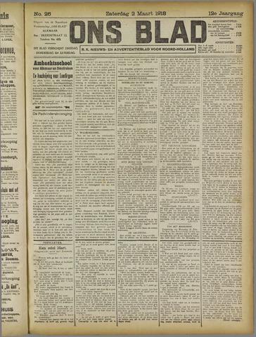 Ons Blad : katholiek nieuwsblad voor N-H 1918-03-02