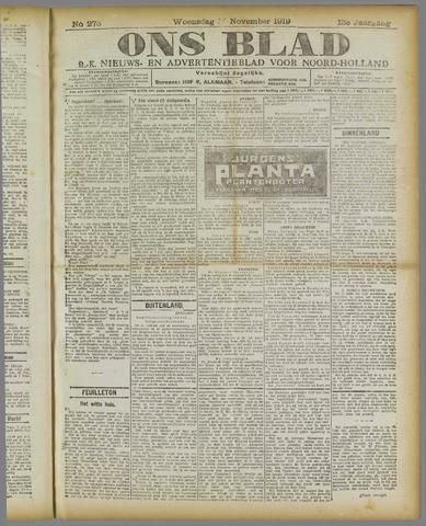 Ons Blad : katholiek nieuwsblad voor N-H 1919-11-19