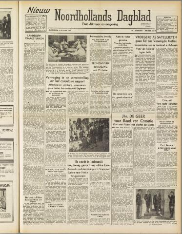 Nieuw Noordhollandsch Dagblad : voor Alkmaar en omgeving 1947-10-02