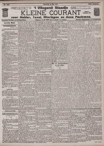 Vliegend blaadje : nieuws- en advertentiebode voor Den Helder 1912-05-18